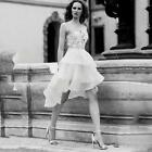 Custom Made Women's Short High Low White/Ivory Wedding Dress Lace Bridal Gowns