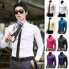 Men's Stylish Long Sleeve Slim Fit Casual Dress Shirts High Quality Tops