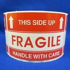 """This Side Up Fragile Handle With Care 2""""x3"""" - Packing Shipping Handling Labels"""