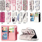 9 Card Slot Leather Wallet Photo Stand Flip Case Cover For iphone Samsung Galaxy