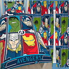"Marvel Avengers Tech Single Duvet & Matching Curtains Set 54"" or 72"" Bed Set"