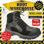 Wide Load Safety Work Boots, 'LIGHTNING' (LT1). Extra Wide.