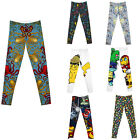 NEW  Blue OCTOPUS multi Colored Leggings pokemon pants plus size