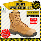 Wide Load Safety Work Boots, 'SPIRIT' (SP1). Extra Wide. Zip Side.