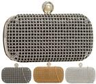 LADIES SMALL PEARL DIAMANTE CRYSTAL EVENING PARTY WEDDING BRIDAL CLUTCH BAG