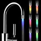 LED Water Faucet Stream Light Changing Glow Shower Stream Tap + Faucet CA