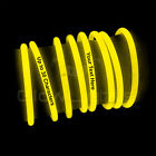 50 x IMPRINTED 8&quot; Glow Light Sticks Bracelets Birthday Party DJ Wedding Favors <br/> PREMIUM GRADE - FAST 24 HOUR SHIPPING - 100% GUARANTEE