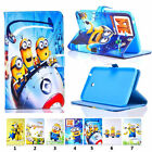 New Cute Minions PU Leather Cover Case For Samsung Galaxy Tab A 7.0 T280/ T285