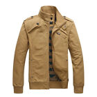 New Men's Cotton Stand-up Collar Jackets Casual Overcoats Slim Fit Outerwears