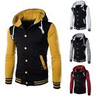 Men Coat Jacket Outwear Sweater Winter Slim Hoodie Warm Hooded Sweatshirt