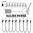 8 ways Power Supply Fit Caline Electric Guitar Effect Pedal W/ Adapter Cables