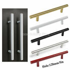 "128mm T Bar Gold White Black Red Stain Nickel 5"" Cabinet Drawer Handle Pull Knob"