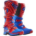Fox Adults Comp 5 MX Motocross Enduro Off Road Quad Boots - Red/ Blue
