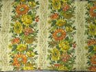 """YELLOW FLORAL Cotton Duck Woven Decor Fabric 48"""" wde $4 per yard"""