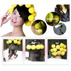 6pcs Soft Balls Red Yellow Soft Sponge Hair Care Curler Rollers ZW