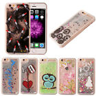 Glitter Moving Sand Transparent Hard Phone Case Cover For iPhone 6 6s 6+ 5s SE