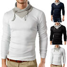 Occident Mens Slim Muscle Fit Long Sleeved Stitch Contrast Tops Casual T Shirt