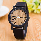 Bamboo Wood Vintage Quartz Watch Leather Band Dial Plate Wristwatch Hot Using