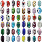 Authentic 925 sterling silver Murano glass charms Beads European Barcelet