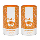 (11,44 €/1kg) Xucker Light Erythrit, 2er Pack, 2x 1kg - 2x 1000g, Zuckerersatz