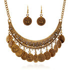 Boho Festival Turkish Coin Collar Jewelry Ethnic Belly Dance Statement Necklace