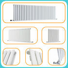 White Horizontal Designer Radiators - Upright Column - Modern Central Heating UK