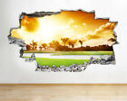 H240 Golf Course Tropical Sunset Smashed Wall Decal 3D Art Stickers Vinyl Room