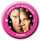 PERSONALISED BUFFY ANGEL SPIKE BIRTHDAY BADGES / FRIDGE MAGNETS / MIRRORS - 58MM