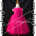 #SBF8 Baby Infant Flower Girl Wedding Pageant Formal Birthday Party Gown Dress