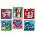 Beginners Child Cross Stitch Cat Dog Heart Whale Flower Butterfly Age 6+