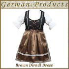German Women 3 Piece Dirndl Dress Bavarian Trachten Oktoberfest Ladies Costume
