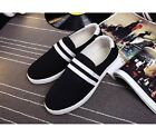 Black Red US Size 5-11 Fashion Canvas Mens Casual Slip On Flats Loafers Shoes