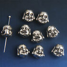 10/30/100x Antique Silver Buddhism Bracelet Spacer Bead Findings Hole 2mm