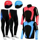 Men Winter Cycling Jackets Trouser With Padded And Skull Under Helmet Caps