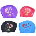 Up Waterproof Silicone Swim Cap Hat For Ladies Women Long Hair With Ear Cup FM
