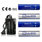 ULBRE 3.7V 18650 Battery with Quick Charger 2200mAh Li-Ion Rechargeable Battery