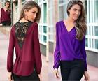 Fashion women back embroidered v-neck long-sleeved chiffon unlined upper garment