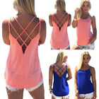 Women Summer Vest Top Sleeveless Blouse Casual Tank Tops T Shirt Clubwear EW
