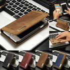 Genuine Flip Leather Wallet Magnet Card Case Cover Skin For iPhone 7/7 Plus S001