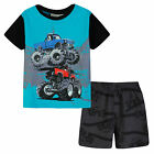 Pyjamas Boys Summer Pjs Set (sz 3-7)  Blue Monster Truck Sz 3 4 5 6 7