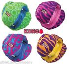 KONG FUNZLER Soft Fabric Multiple Squeakers Big Ball w Handle Toss Fetch Dog Toy