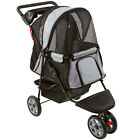 Black and Silver Pet Jogger Dog Carrier Stroller with Cup Holder PS-01-BKSV