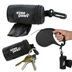 Ezee Paws Dog Poo Waste Bag Holder Dispenser With Lead Attachement and Key Clip