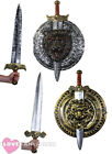 "29"" GLADIATOR SWORD AND 20"" SHIELD SET MEDIEVAL FANCY DRESS COSTUME ACCESSORY"
