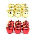 12pcs Chic Christmas Tree Apple Decoration Xmas Baubles Party Wedding Ornament