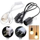 E27/E26 Plug-In Hanging Pendant Light Fixture Lamp Bulb Socket Cord with Switch