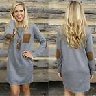 New Fall Fashion Women Casual Loose Long Sleeve Round Neck Dress