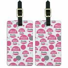 Luggage Suitcase Carry-On ID Tags Set of 2 Hello My Name Is Si-Sy