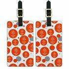 Luggage Suitcase Carry-On ID Tags Set of 2 Keep Calm and P-Y