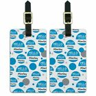 Luggage Suitcase Carry-On ID Tags Set of 2 Hello My Name Is Ma-Ma